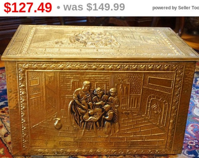 Brass Relief Box