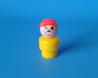 "Fisher Price Little People "" #663 Play Family Boy "" 1970's"