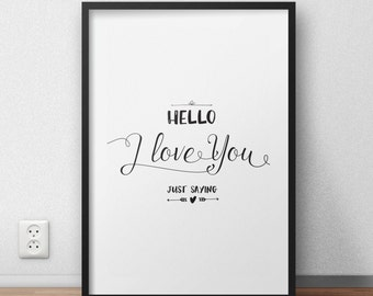 monochrome prints, valentines gift, wedding gift, home decor, valentines, love print, gift for boyfriend, gift for girlfriend, gift for wife