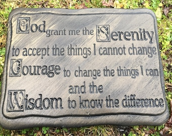 Concrete Mold Serenity Plaque Stepping Stone