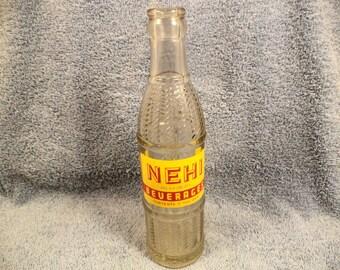 NEHI Soda Bottle 7 Ounce Bottled Sioux City Iowa