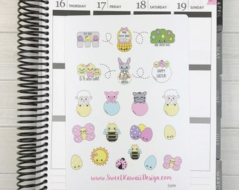 Kawaii Easter Stickers