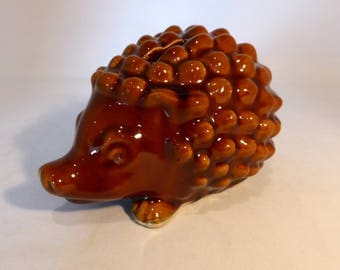 Denmead Pottery Hedgehog money box – original from the 1970s