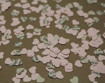 Romantic Heart Confetti for Valentine's Day, Weddings, Showers, Anniversaries