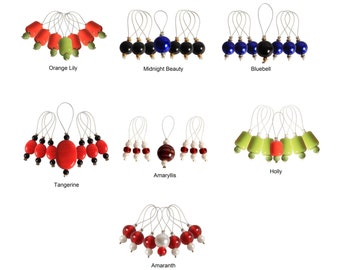 Knitter's Pride Zooni Stitch Markers W/Colored Beads 7/Pkg #800181-800187 ***Free Shipping***