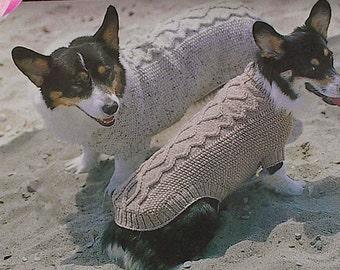 Vintage Dog Coat Knitting Pattern. Adorable Aran For A Huggable Hound ! 5 Sizes. 99p pdf