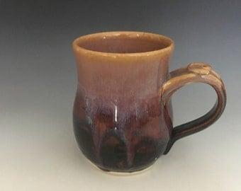 Pottery Mug, Ceramic Coffee Cup, Purple Tea Cup.