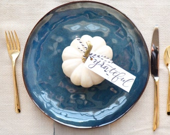 Grateful --- Thanksgiving Table Setting Place Card