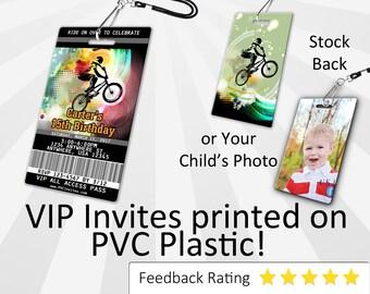 BMX Invitation PLASTIC Bmx Birthday, Bmx Birthday Invitation, Birthday Invite, Bmx 1st Birthday SKU-INV041