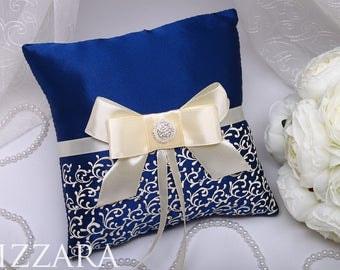 wedding ring boy Pillow Wedding Navy blue Ring bearer pillow Wedding ring Pillow blue Wedding Pillow blue wedding ideas Decor wedding set