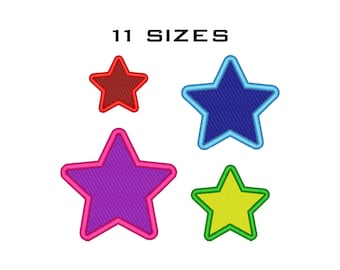 Star Machine Embroidery Design - Embroidery Shapes Download - Star Pattern