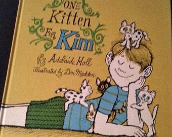 One Kitten for Kim vintage children's book 1969