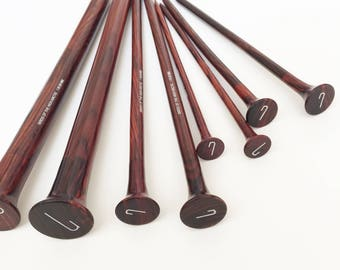 The Rosewoods – wooden knitting needles various sizes