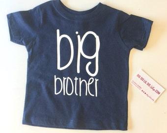 Big Brother Navy Blue Shirt/Big Brother Shirts/Big Brother/Brother Shirts/Toddler Shirts/Gift Ideas/Pregnancy Announcement/Kid Shirts/