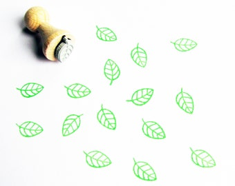 "Mini stamps ""Leaf"" stamp plant leaf plant green rubber stamp greenery urban jungle"