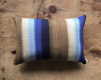 Handwoven Cushion - Pursian Blue