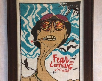 Fear and Loathing In Las Vegas cross stitch portrait