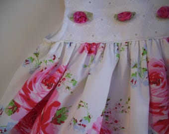 English Rose and Eyelet Baby Sun Dress