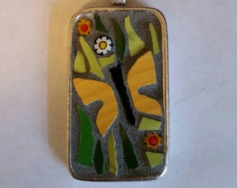 Down in the Meadow_ Mosaic Pendant