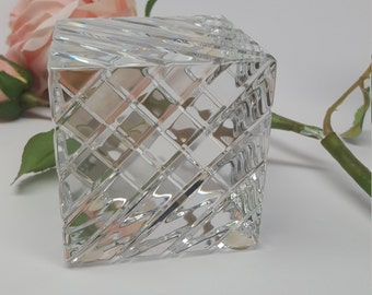 Baccarat Crystal cube Paperweight