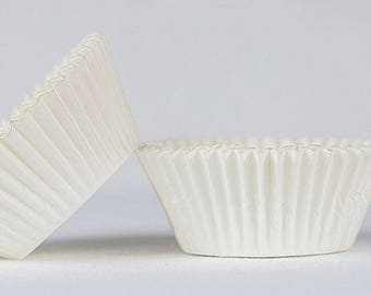 50pc Solid White Color Standard Size Cupcake Baking Cups Liners Wrappers