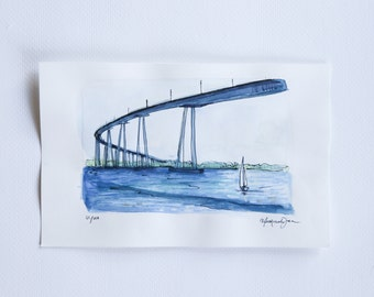small sketch of the Coronado Bridge