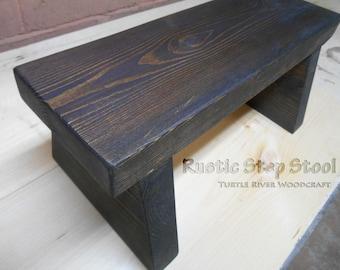 Handmade Rustic Step Stool (USA Made)