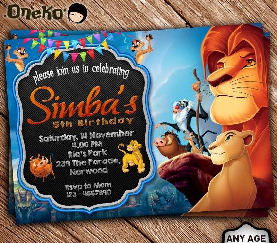 Sale 50 Off Lion King Birthday Invitation Printable Lion