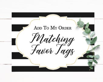 Matching Favor Tags Customized to Match Your Invitation
