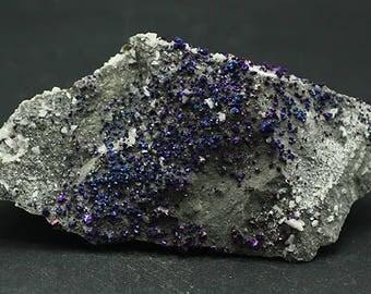 Iridescent Chalcopyrite on Dolomite, Missouri.  Mineral Specimen for Sale
