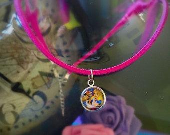 Disney Alice In Wonderland Adjustable Choker Necklace Gift For Her