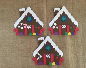 Gingerbread House Die Cut Set of 3