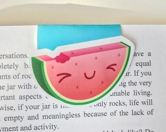Cute Watermelon Magnetic Bookmark