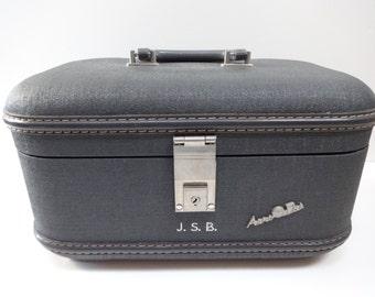 Train Case, Luggage, Luggage Case, Travel, Travel Case, Blue Train Case, Travel Luggage, Blue Luggage Case, Aeropak, Aeropak Case, Blue Case