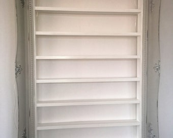 Nail Polish Rack French Grey Shabby Chic
