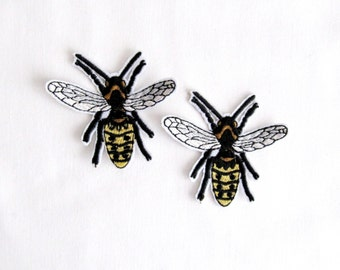 Bees Patch Bees Applique 2Pcs. Bees Patches Iron on Patches Animal Patch  Kids Clothes Iron Patches Clothing Patches  Patches Suplier
