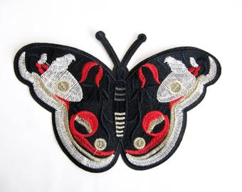 Huge Butterfly  Patch Embroidered Applique Animal Patch Large Butterfly  Applique Sewing On patch