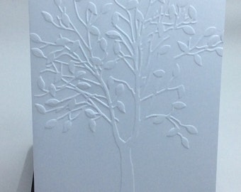Embossed Tree Card Set All Ocassion