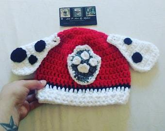 Paw Patrol inspired crochet Beanie(ready to ship)