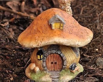 Mushroom Fairy House for Miniature Garden, Fairy Garden