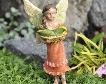 Bountiful Harvest Fairy for Miniature Garden, Fairy Garden