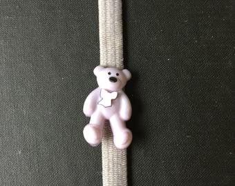 Gray Teddy Bear Planner Band  item PB0061
