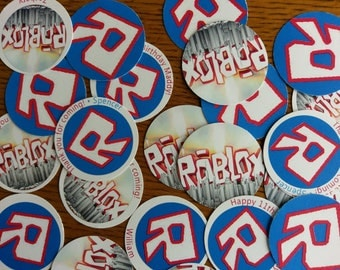 "Tags, Roblox Inspired, die-cut, perfect for gifts, party favors, thank you, projects,  2"" circle"