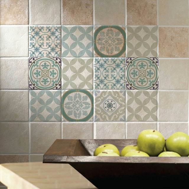 kitchen wall tile stickers decorative mats vinyl tiles decals for floor amp wall by videcor 6449