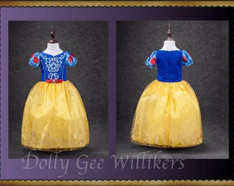 Snow White Inspired Dress - Princess Dress - Perfect for Dress-Up Play - Excellent Costume - Little Girls Love This Dress!