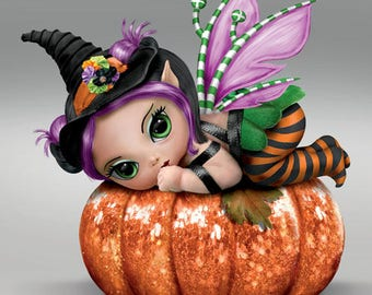 Baby Fairies ''PUN KIN PIXIE'' Sweet Baby Dolls Collection By Jasmine Becket Griffith - Bradford Exchange