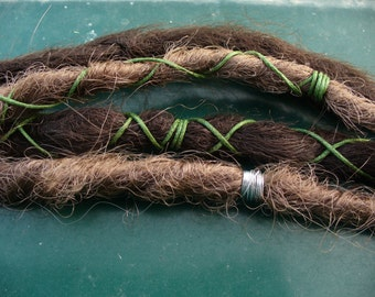 3 dreads waxed cotton decorated with colors to define