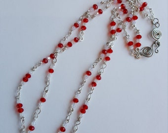 red double strand necklace