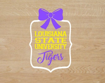 LSU tigers framed decal