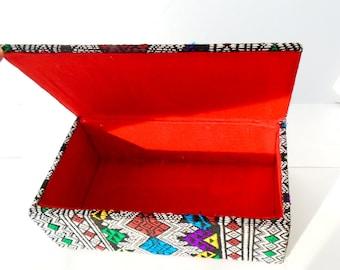 Jewelry Box, Trinket Box, Textile Jewelry Box, Woven Textile, India Style Jewelry Box